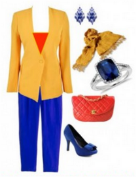 This Outfit Is An Example Of A Split Complementary Color Scheme Because It Uses The Colors That Are Found On Either Side